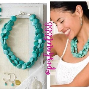 :: S&D Sterling+Turquoise Sea Necklace